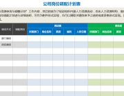 公司岗位调配计划表.xls